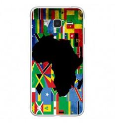 Coque en silicone Samsung Galaxy J3 2016 - Drapeau Afrique