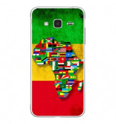 Coque en silicone Samsung Galaxy J3 2016 - Drapeau Africa Unite