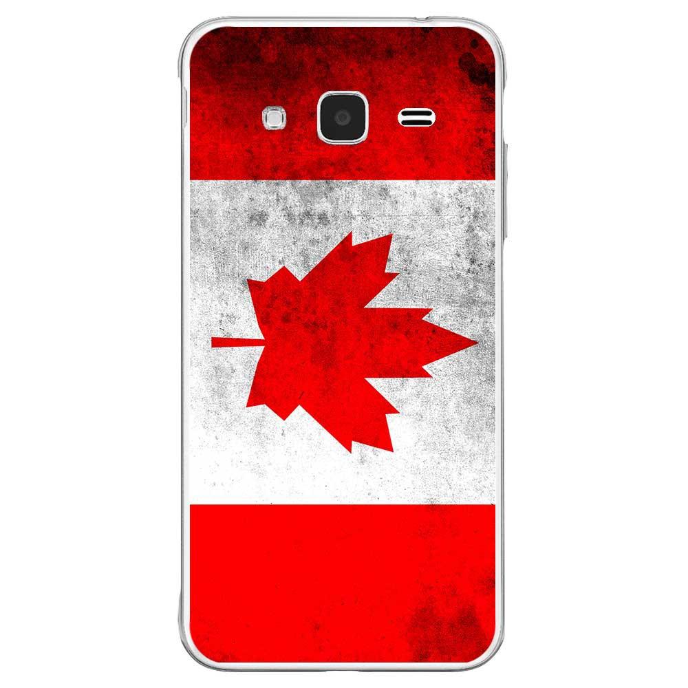 Coque en silicone Samsung Galaxy J3 2016 - Drapeau Canada