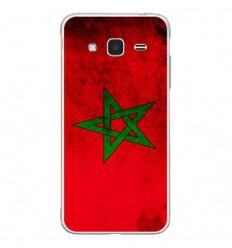 Coque en silicone Samsung Galaxy J3 2016 - Drapeau Maroc