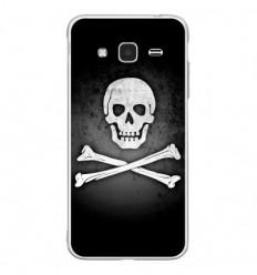 Coque en silicone Samsung Galaxy J3 2016 - Drapeau Pirate