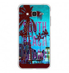 Coque en silicone Samsung Galaxy J3 2016 - South beach miami