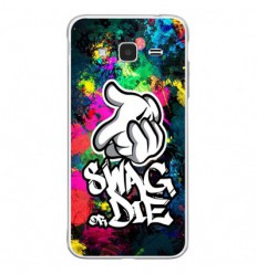 Coque en silicone Samsung Galaxy J3 2016 - Swag or die