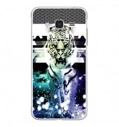 Coque en silicone Samsung Galaxy J3 2016 - Tigre swag