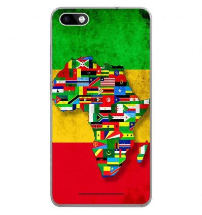 Coque en silicone Wiko Lenny 3 - Drapeau Africa Unite