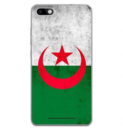 Coque en silicone Wiko Lenny 3 - Drapeau Algérie