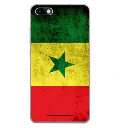 Coque en silicone Wiko Lenny 3 - Drapeau Sénégal