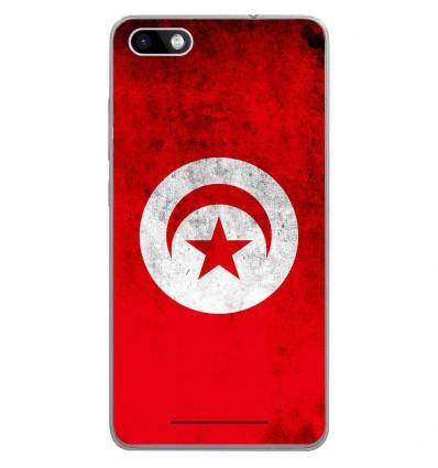 Coque en silicone Wiko Lenny 3 - Drapeau Tunisie