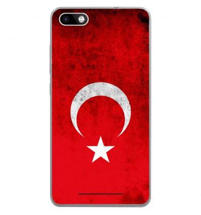 Coque en silicone Wiko Lenny 3 - Drapeau Turquie