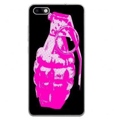 Coque en silicone Wiko Lenny 3 - Grenade rose