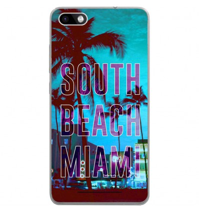 Coque en silicone Wiko Lenny 3 - South beach miami