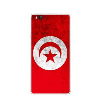 Coque en silicone Huawei P9 Lite - Drapeau Tunisie