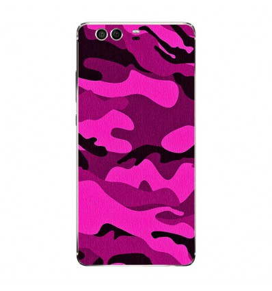 Coque en silicone Huawei P9 - Camouflage rose