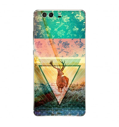 Coque en silicone Huawei P9 - Cerf swag