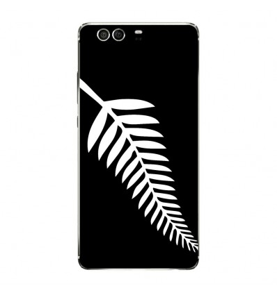 Coque en silicone Huawei P9 - Drapeau All-black