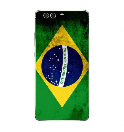 Coque en silicone Huawei P9 - Drapeau Brésil