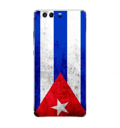 Coque en silicone Huawei P9 - Drapeau Cuba