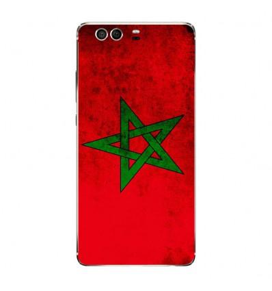 Coque en silicone Huawei P9 - Drapeau Maroc
