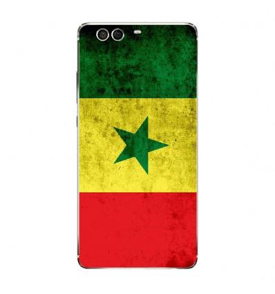 Coque en silicone Huawei P9 - Drapeau Sénégal