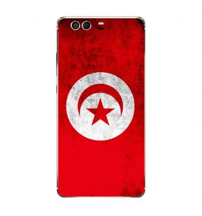 Coque en silicone Huawei P9 - Drapeau Tunisie