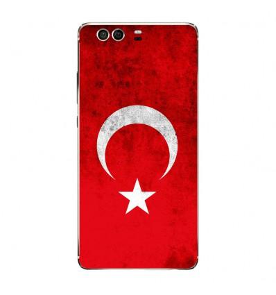 Coque en silicone Huawei P9 - Drapeau Turquie