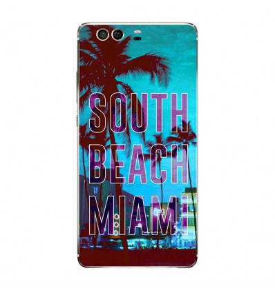Coque en silicone Huawei P9 - South beach miami