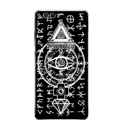Coque en silicone Huawei P9 - Symboles Illuminati