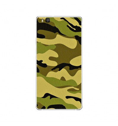 Coque en silicone Huawei P9 Lite - Camouflage
