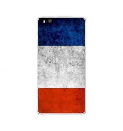 Coque en silicone Huawei P9 Lite - Drapeau France