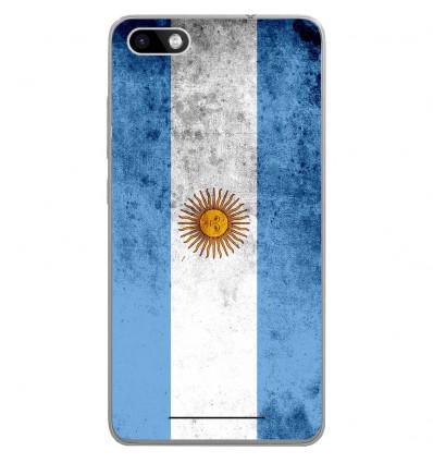 Coque en silicone Wiko Lenny 3 - Drapeau Argentine