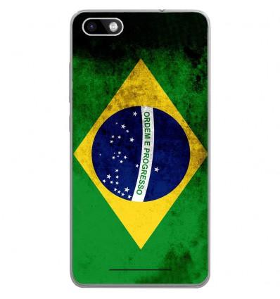 Coque en silicone Wiko Lenny 3 - Drapeau Brésil