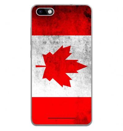 Coque en silicone Wiko Lenny 3 - Drapeau Canada
