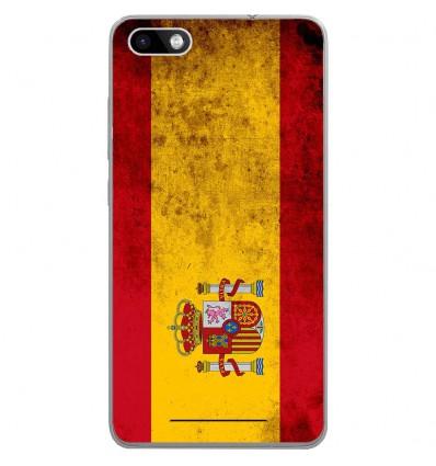 Coque en silicone Wiko Lenny 3 - Drapeau Espagne