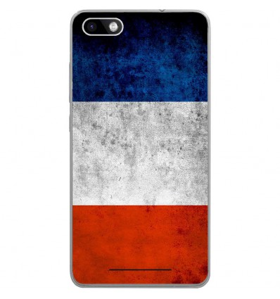 Coque en silicone Wiko Lenny 3 - Drapeau France