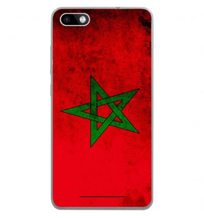 Coque en silicone Wiko Lenny 3 - Drapeau Maroc