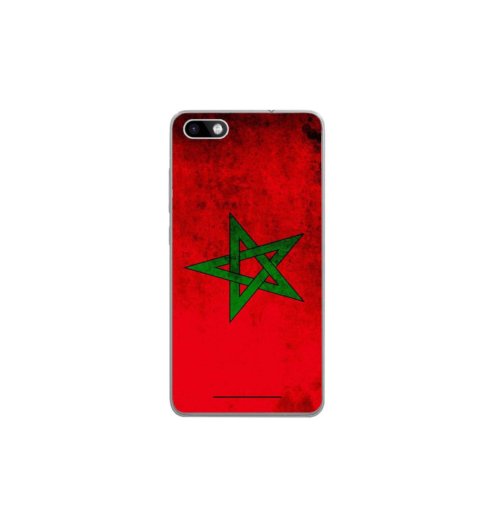 coque en silicone wiko lenny 3 drapeau maroc. Black Bedroom Furniture Sets. Home Design Ideas