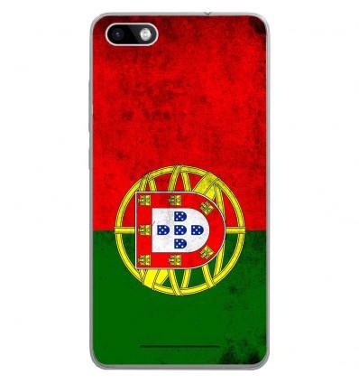 Coque en silicone Wiko Lenny 3 - Drapeau Portugal