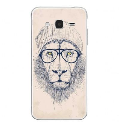 Coque en silicone Samsung Galaxy J3 2016 - BS Cool Lion