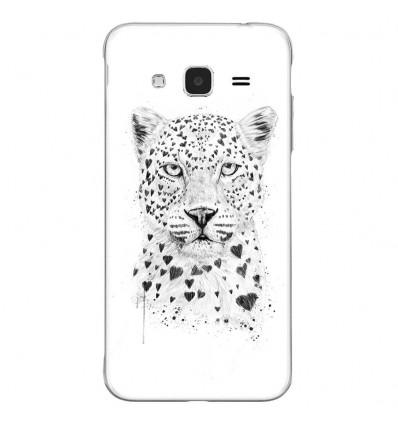 Coque en silicone Samsung Galaxy J3 2016 - BS Love leopard