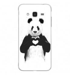 Coque en silicone Samsung Galaxy J3 2016 - BS Love Panda