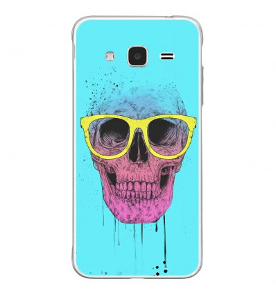 Coque en silicone Samsung Galaxy J3 2016 - BS Skull glasses