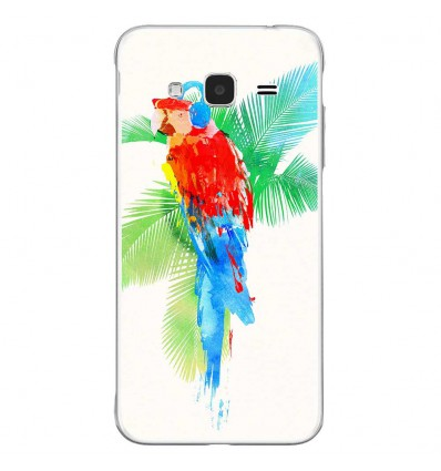 Coque en silicone Samsung Galaxy J3 2016 - RF Tropical party