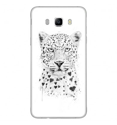 Coque en silicone Samsung Galaxy J7 2016 - BS Love leopard