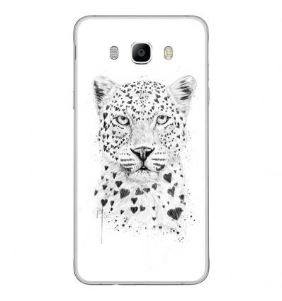 Coque en silicone Samsung Galaxy J7(2016) - Balasz Solti (Love leopard)