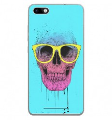 Coque en silicone Wiko Lenny 3 - BS Skull glasses