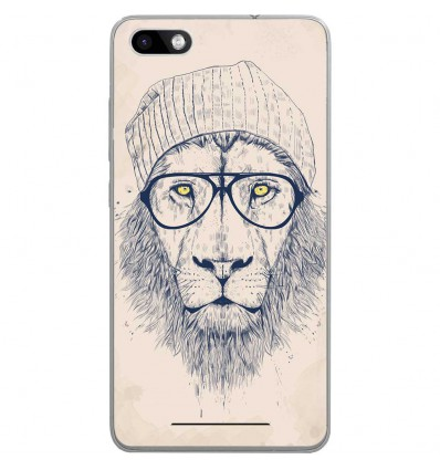 Coque en silicone Wiko Lenny 3 - BS Cool Lion