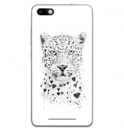 Coque en silicone Wiko Lenny 3 - BS Love leopard