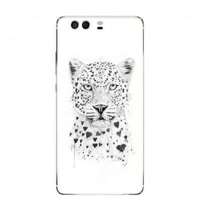 Coque en silicone Huawei P9 - BS Love leopard