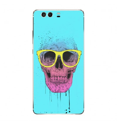 Coque en silicone Huawei P9 - BS Skull glasses