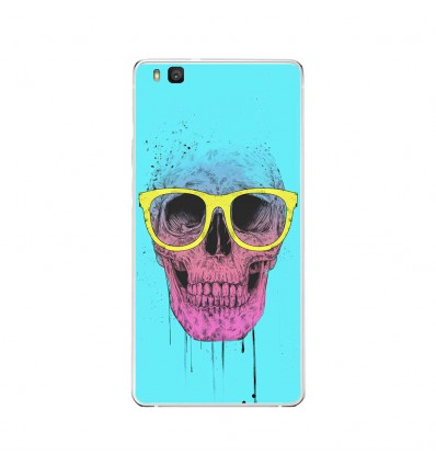Coque en silicone Huawei P9 Lite - BS Skull glasses